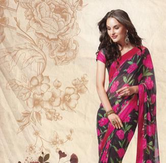 Chiffon Printed Saree New